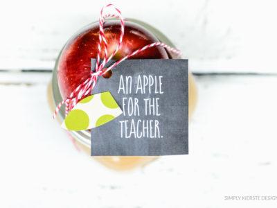 Apple Caramel Dip Teacher Gift | simplykierste.com