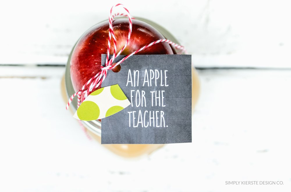 Apple Caramel Dip Teacher Gift | simplykierste.com
