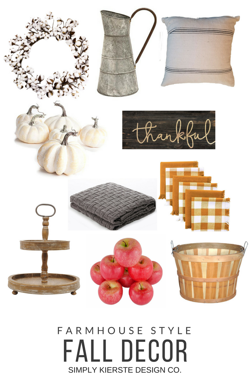 Farmhouse Style Fall Decor | simplykierste.com