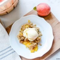 Fresh Peach Crisp {Farmhouse Kitchen Recipe}