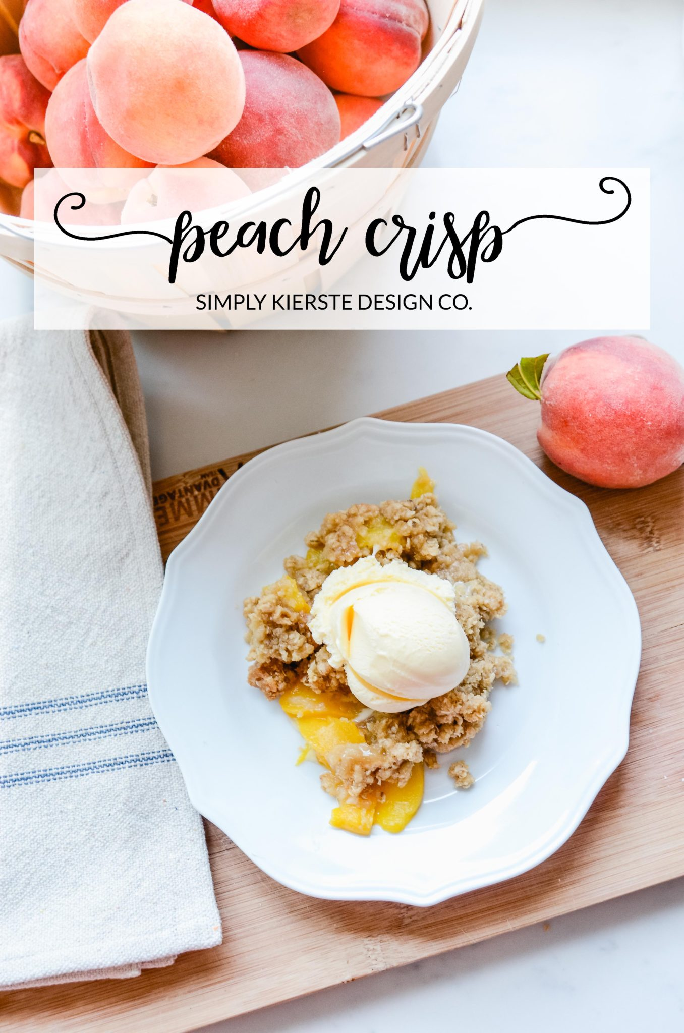 The BEST Peach Crisp recipe ever...quick, easy, and YUMMY!