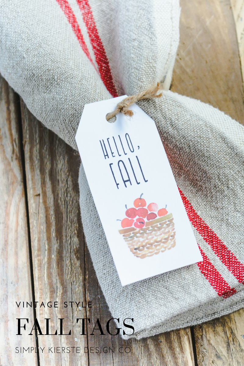 Vintage Style Fall Gift Tags | Hello Fall