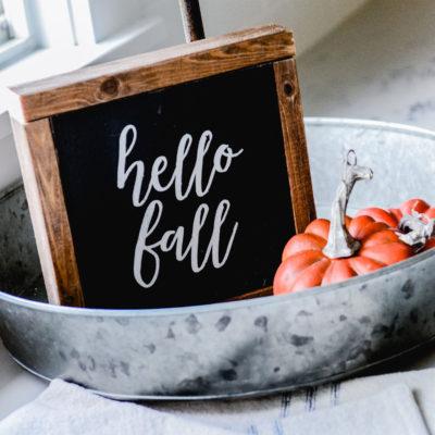 Hello Fall Wood Sign + Free Silhouette Cut File