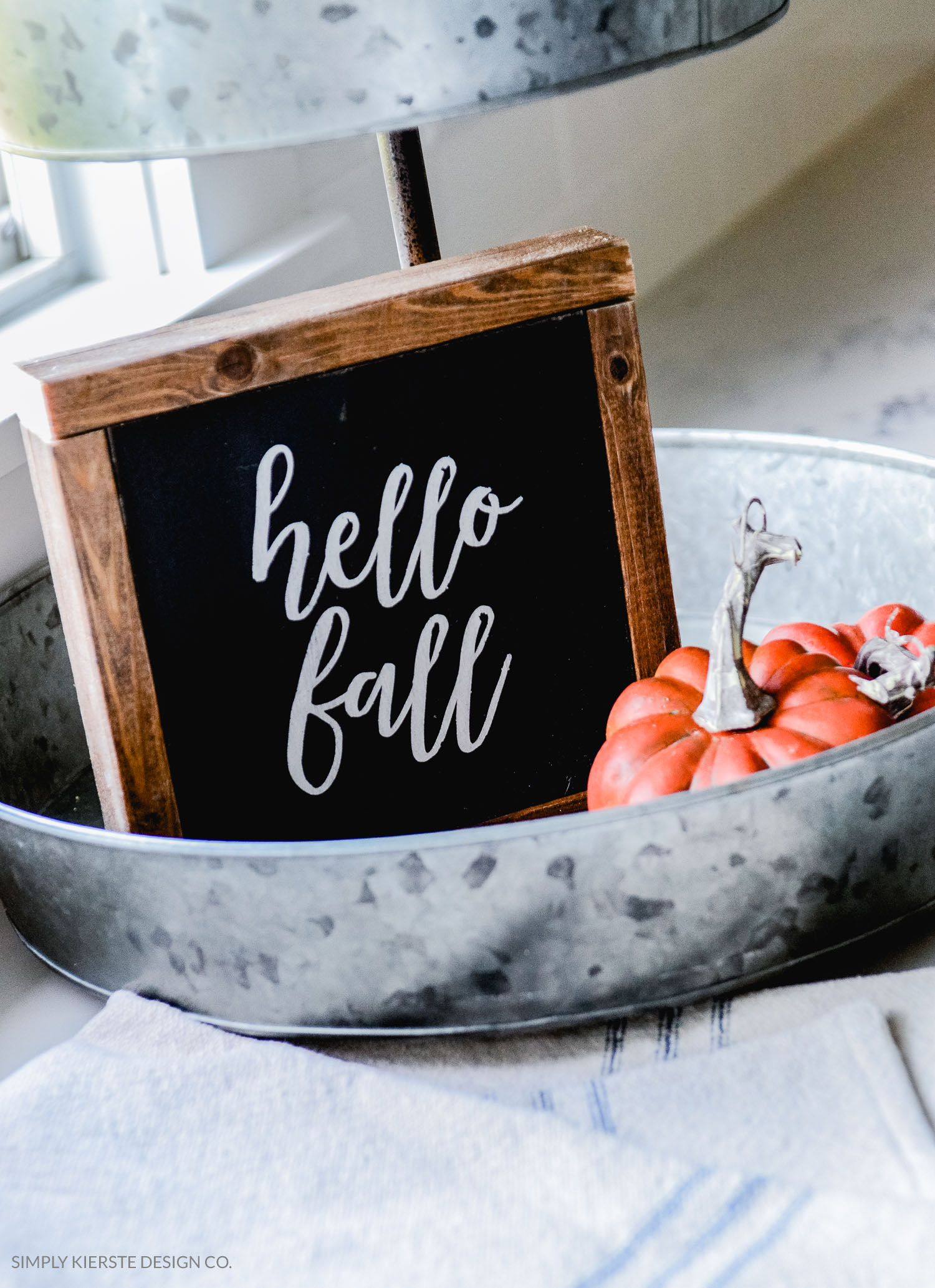 Hello Fall Wood Sign | oldsaltfarm.com | Fall Decor | DIY