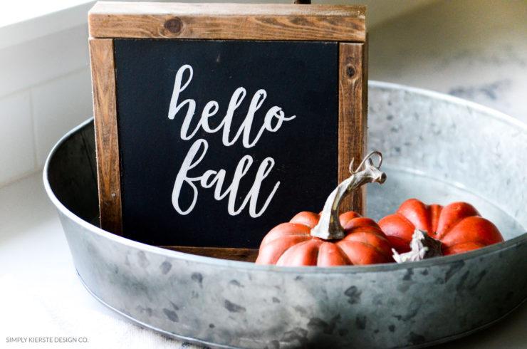 Hello Fall Wood Sign | simplykierste.com | Fall Decor | DIY