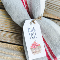 Vintage Style Fall Tags:  Hello Fall!