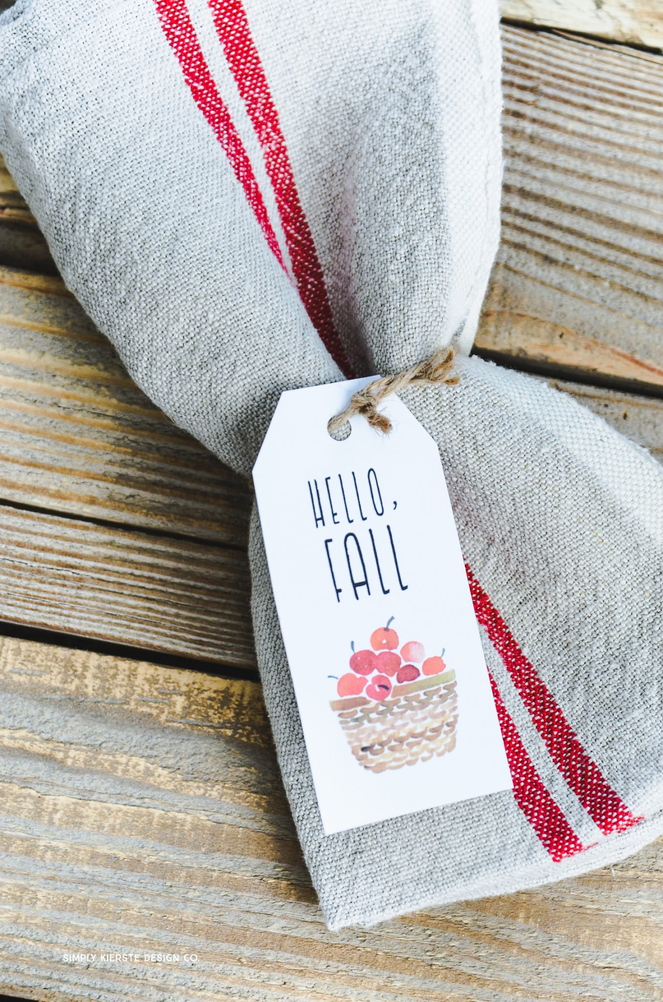 Vintage Style Hello Fall Tags