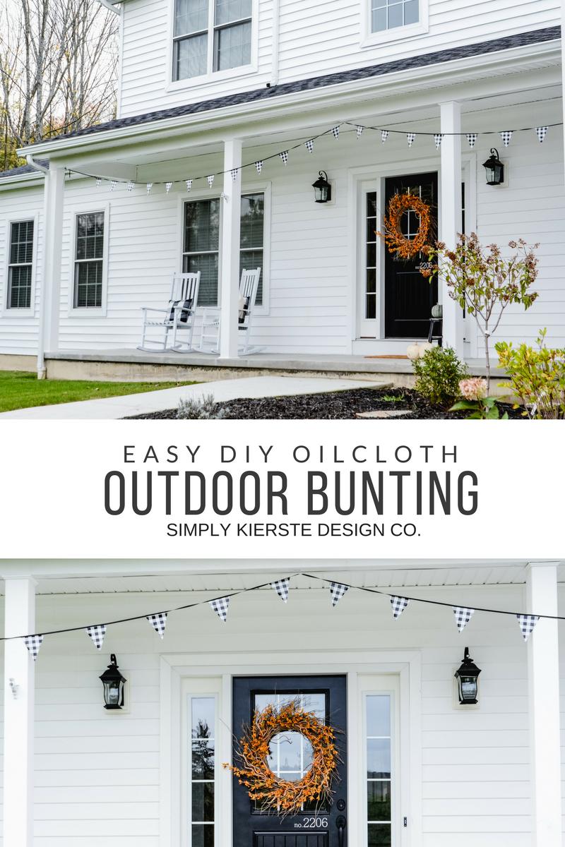 DIY Oilcloth Outdoor Bunting | simplykierste.com