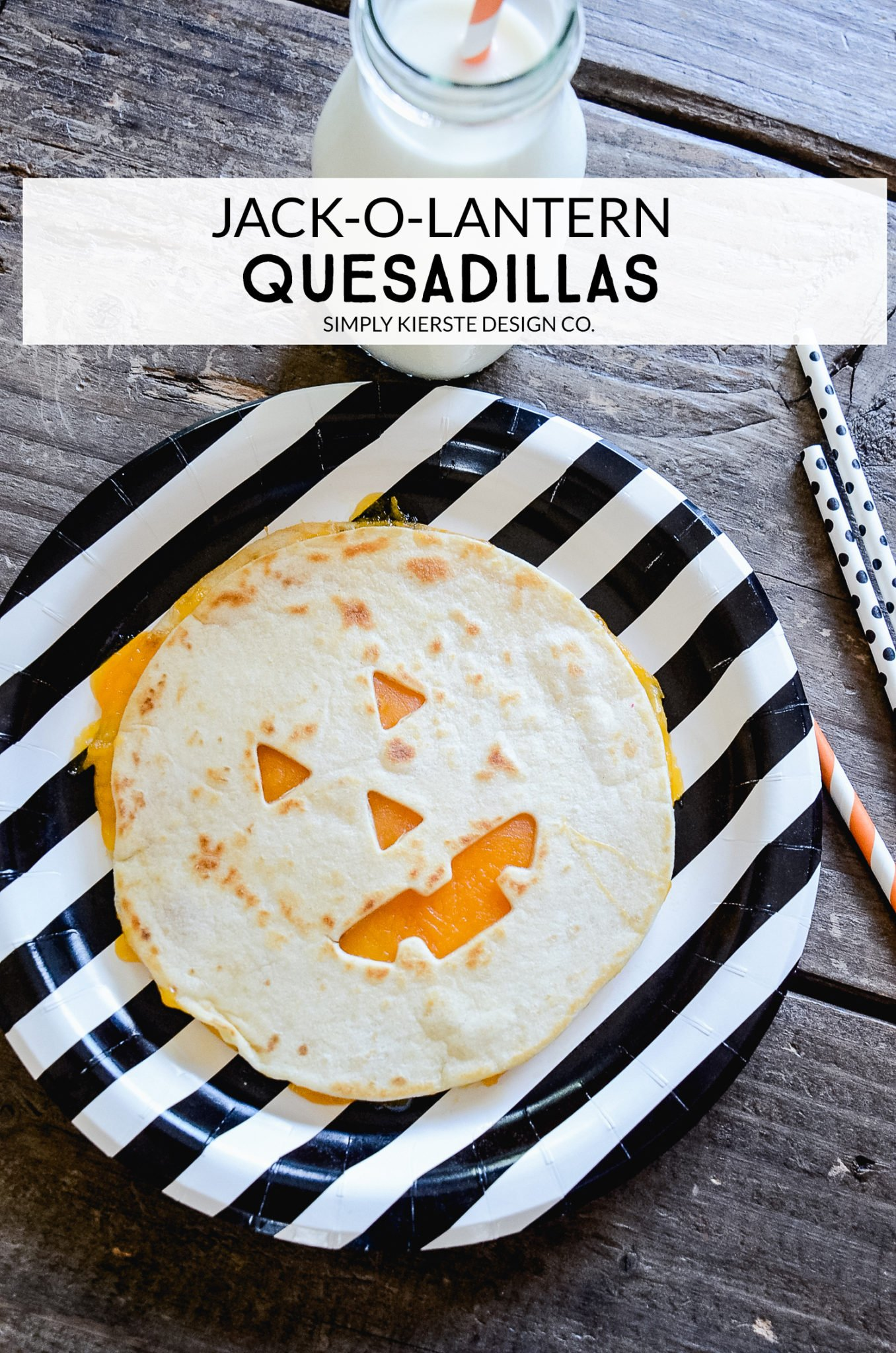 Jack-o-lantern Quesadillas | Easy Halloween Ideas | Halloween Dinner Ideas | oldsaltfarm.com