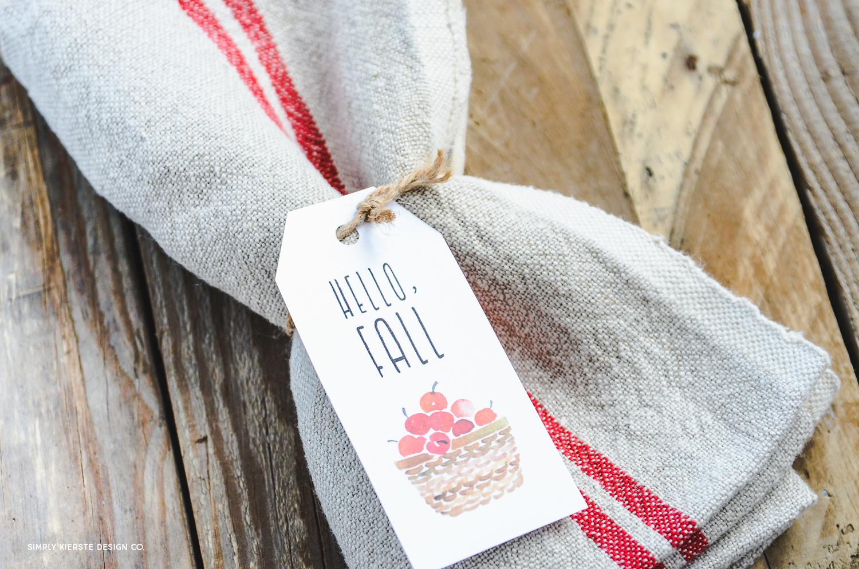 Vintage Fall Gift Tags | Hostess Gifts | oldsaltfarm.com
