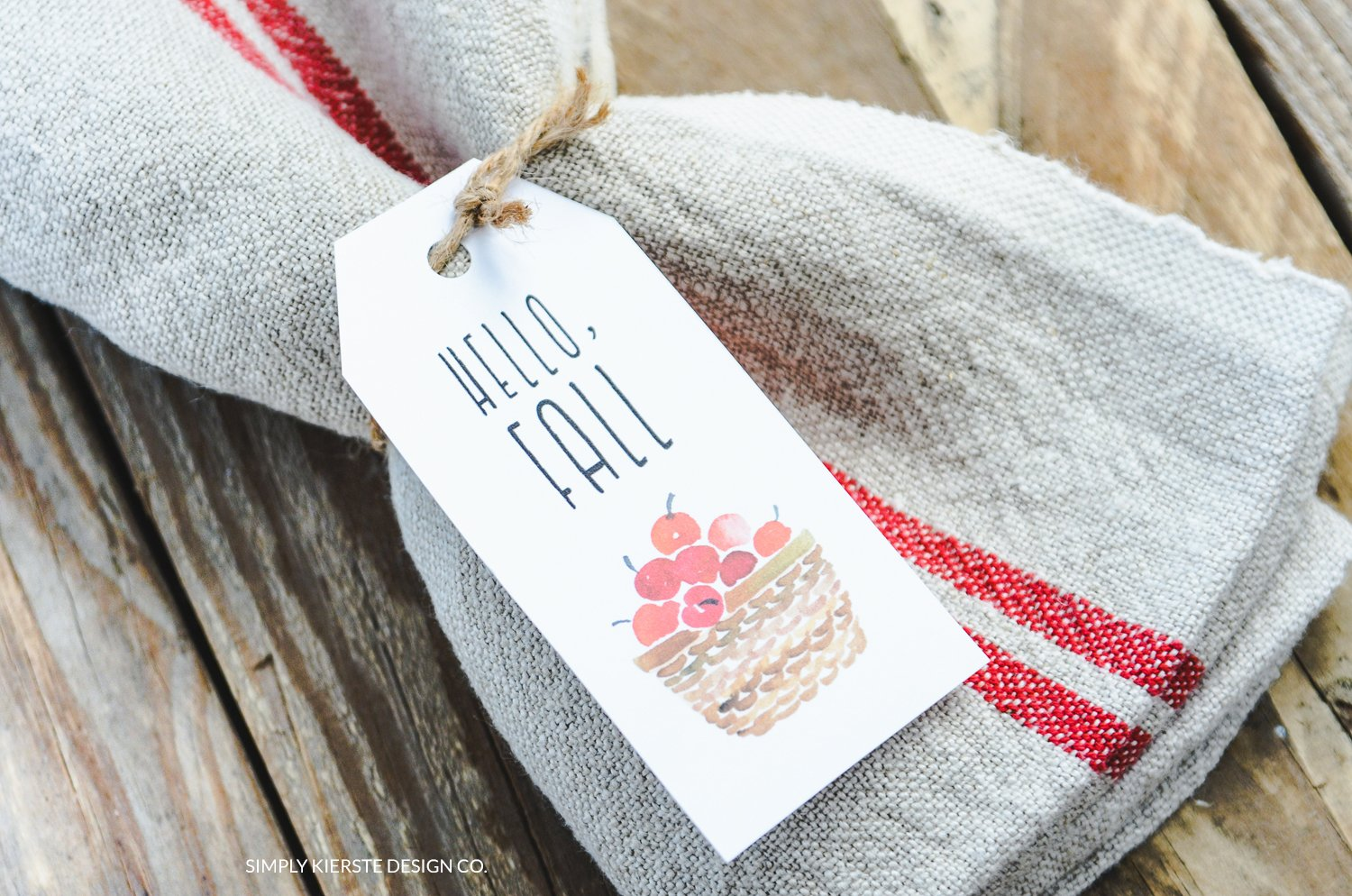 Vintage Fall Gift Tags | Hostess Gifts | simplykierste.com