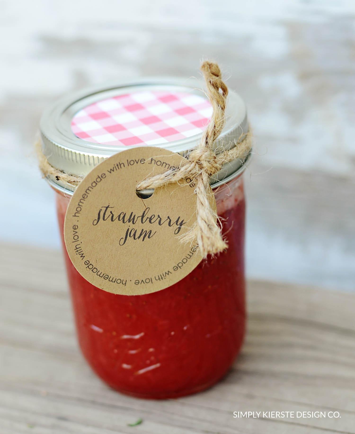 Homemade Jam Gift Tags   Printable Tags   simplykierste.com #gifttags #homemadejam #printabletag #easygiftidea