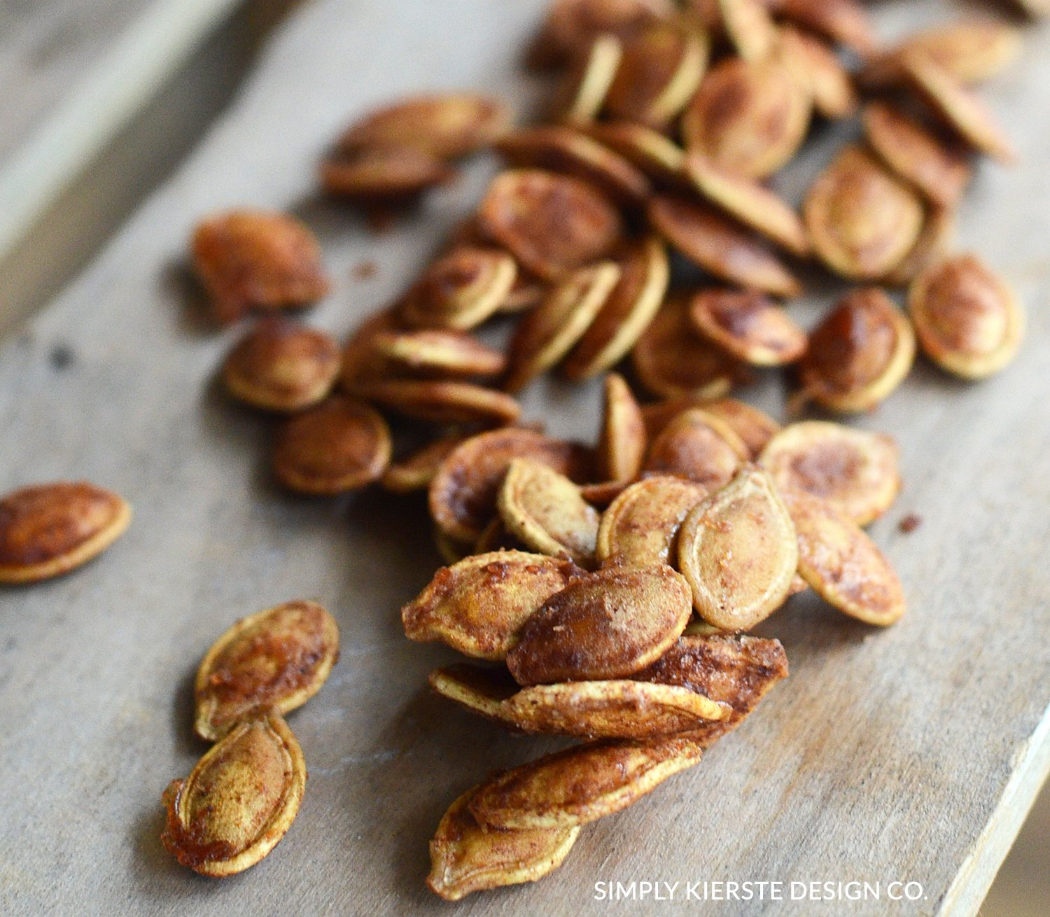 Toasted Pumpkin Seeds | Cinnamon & Sugar Pumpkin Seeds | Fall Recipes | oldsaltfarm.com