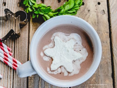 Frozen Whipped Cream Cubes | Hot Chocolate | simplykierste.com #hotchocolateideas #hotchocolatetoppings #whippedcream