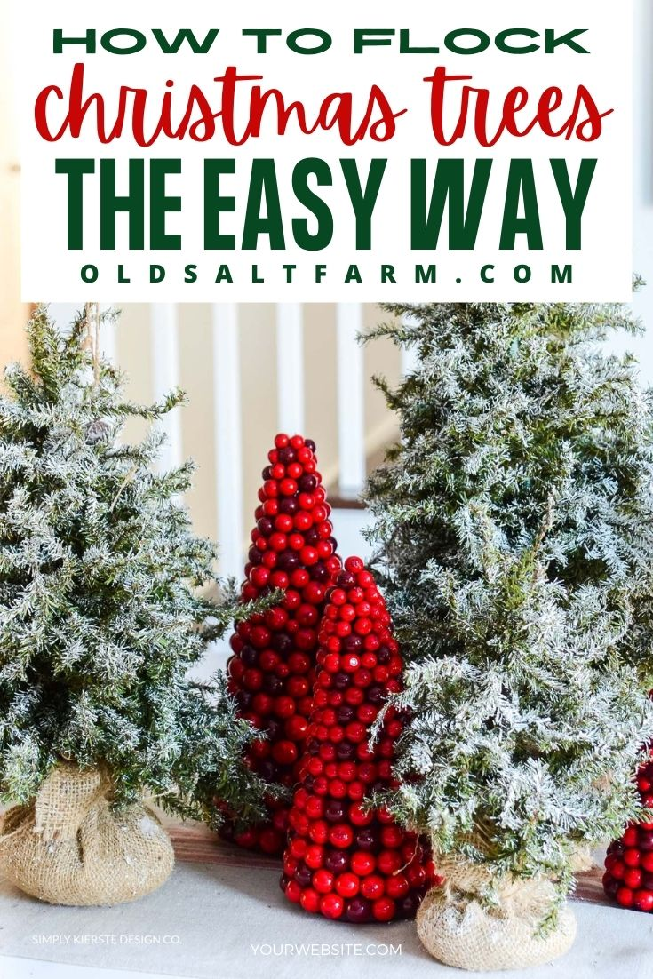 How to Flock a Christmas Tree the Easy Way