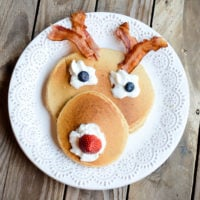 Festive Rudolph pancakes