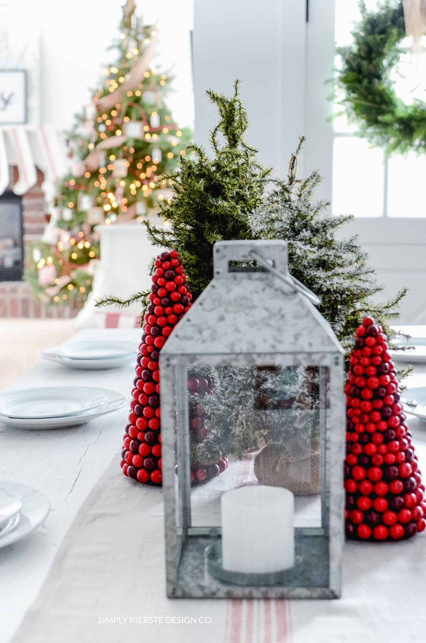 Simple Farmhouse Christmas Tablescape Simply Kierste