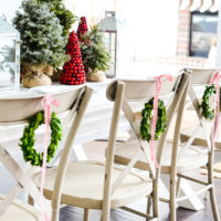 Simple farmhouse Christmas tablescape