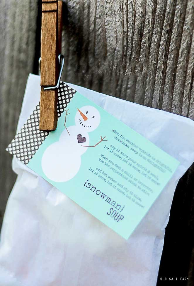 Snowman Soup: Easy Holiday Gift Idea