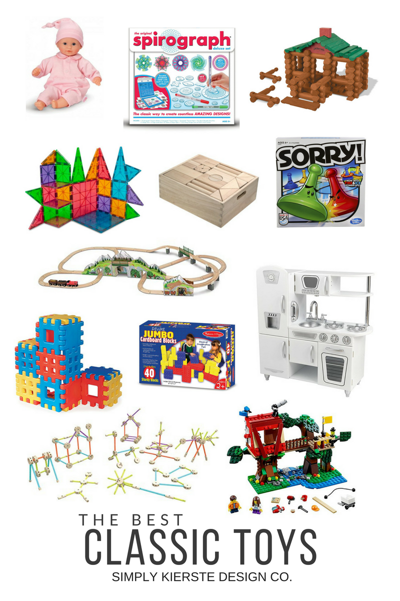 The Best Classic Toys | Holiday Gift Ideas for Kids | oldsaltfarm.com #classictoys #holidaygiftsforkids #kidsgiftideas