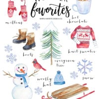 Winter favorites: vintage style printable