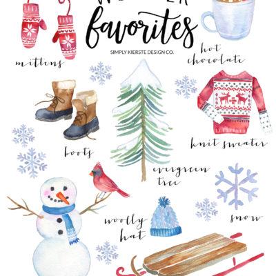 Winter Favorites: Vintage Style Printable