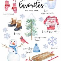 Vintage Winter Favorites Printable