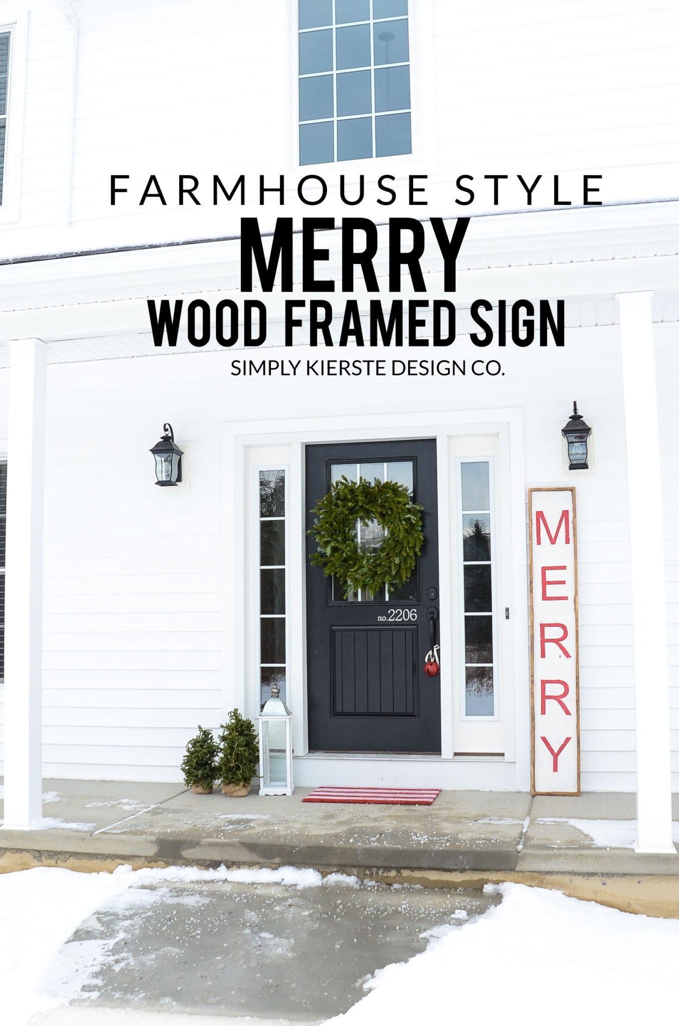 Merry Christmas Wood Sign | Farmhouse Style | simplykierste.com #woodsign #diychristmasdecor #christmassign