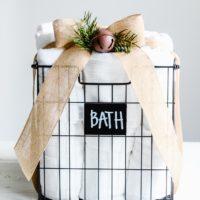 Affordable Gift Ideas | Bath Gift Basket | oldsaltfarm.com