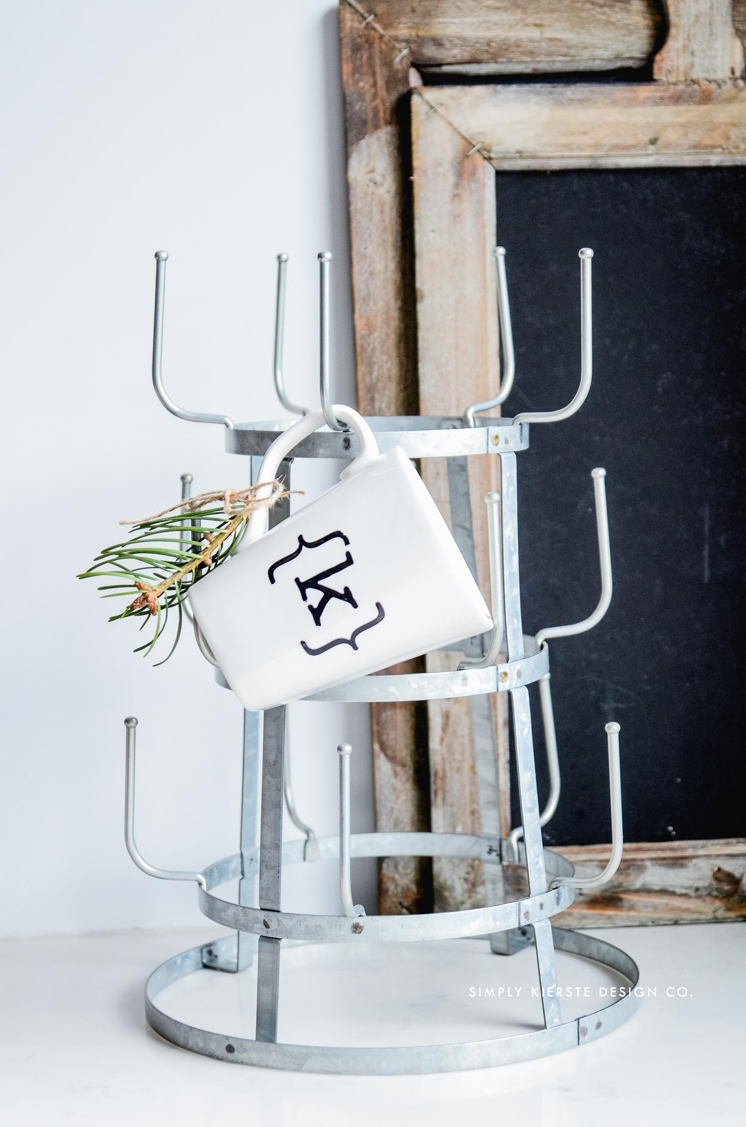 Affordable Gift Ideas | Galvanized Mug Rack | oldsaltfarm.com