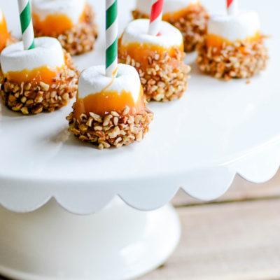 Caramel Nut Marshmallows | oldsaltfarm.com #christmastreats #christmascookies #marshmallowtreats #easychristmastreats