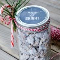 Mason Jar Christmas Gift Idea | Chalkboard Printable Tag | simplykierste.com #easyholidaygift #easychristmasgift #masonjargiftideas #chalkboardtag