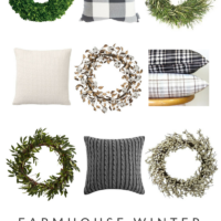 Farmhouse Winter Decor: Wreaths & Pillows | simplykierste.com #farmhousestyle #farmhousedecor #farmhousewinterdecor #farmhousewreaths #farmhousepillows