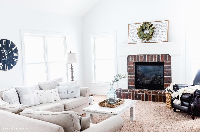 Cozy Farmhouse Family Room Simply Kierste Design Co