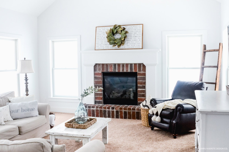 Cozy Farmhouse Family Room - Simply Kierste Design Co.