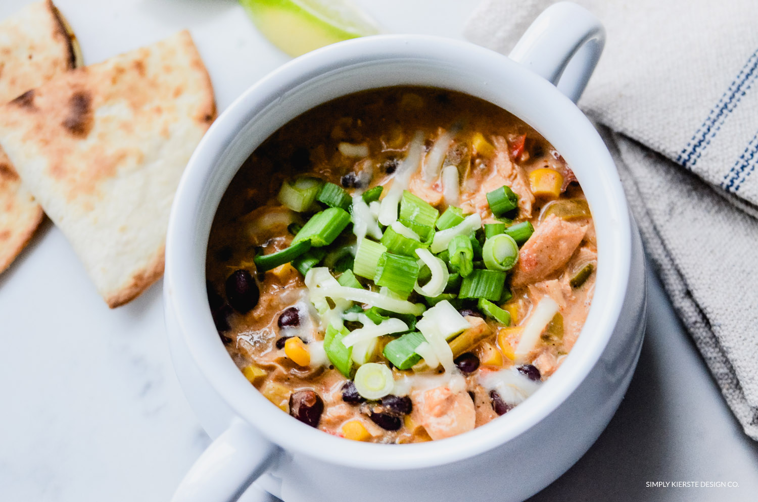 Crockpot Mexican Chicken Soup | simplykierste.com #soup #crockpotsoup #crockpotrecipes #slowcookerrecipes