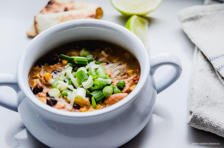Crockpot Mexican Chicken Soup | simplykierste.com