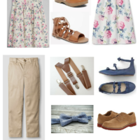 Floral & Chambray Easter Clothing for Kids