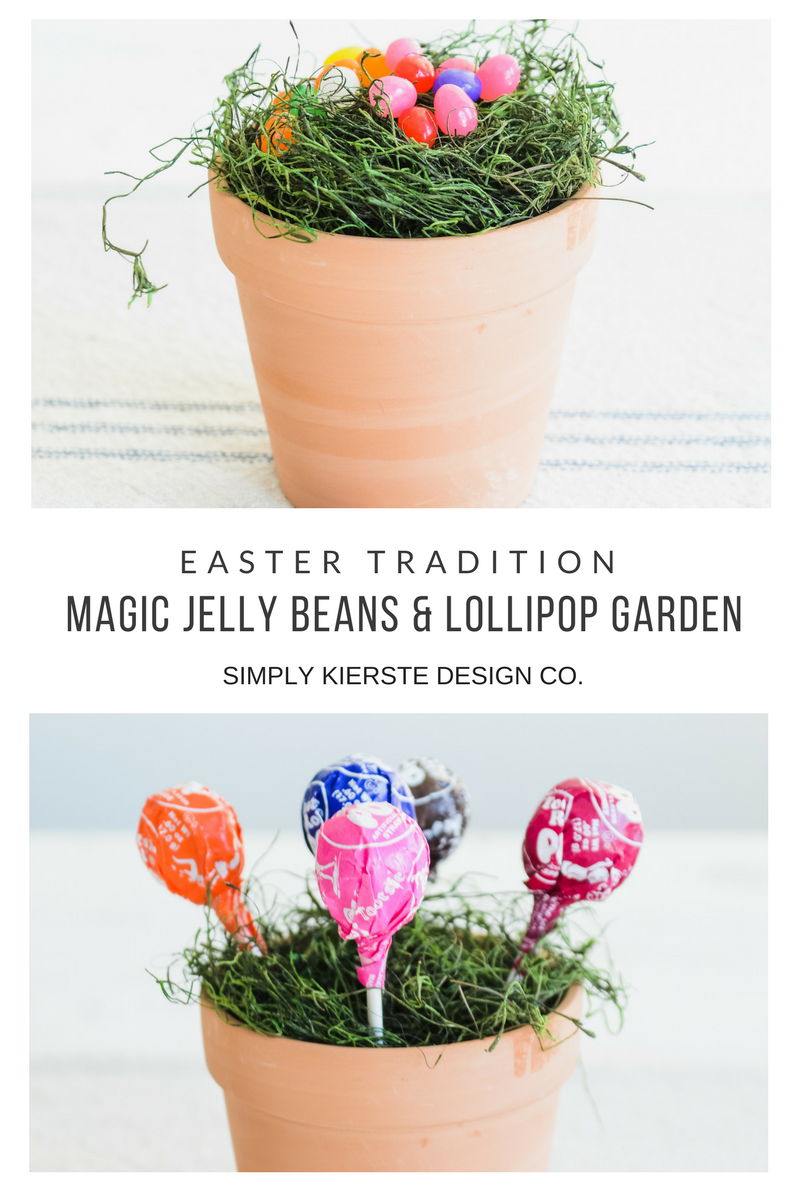 Magic Jelly Beans & Lollipop Garden | Easter Tradition | oldsaltfarm.com #eastertradition #jellybeans #easterideas #easterforkids