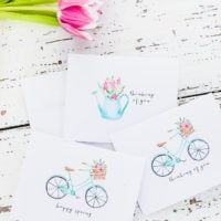 Vintage Style Spring Stationery
