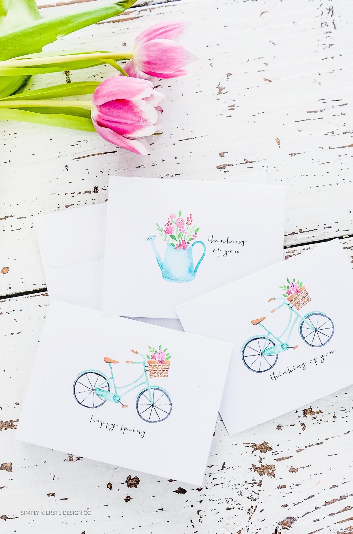 Spring Notecards | Vintage Notecards | Thinking of You | simplykierste.com
