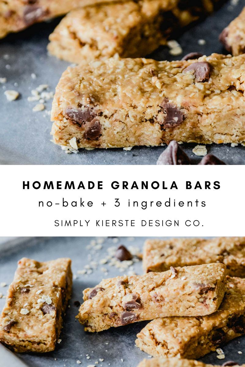 Easy No-Bake Homemade Granola Bars