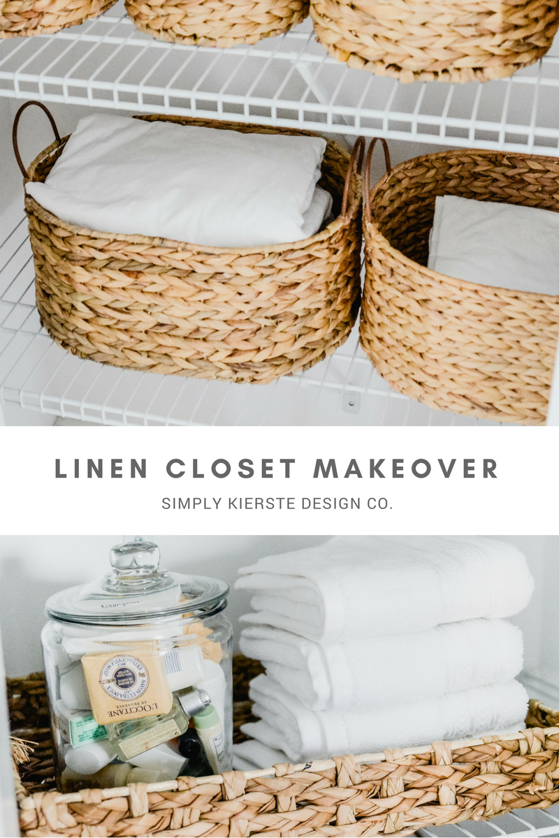 Linen Closet Makeover Organization | How to Organize Your Linen Closet #linencloset #closetmakeover #closetorganization #linenclosetorganization #bathroomstorage #bathroomcloset #