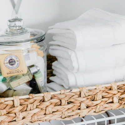 Linen Closet Makeover: Pretty & Practical Organization