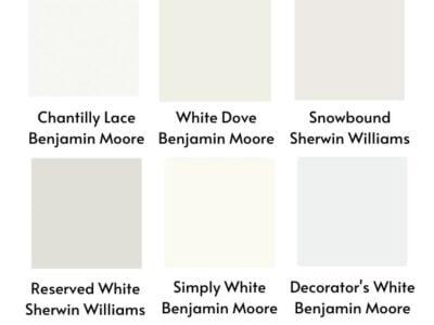 Best Farmhouse White Paint Colors