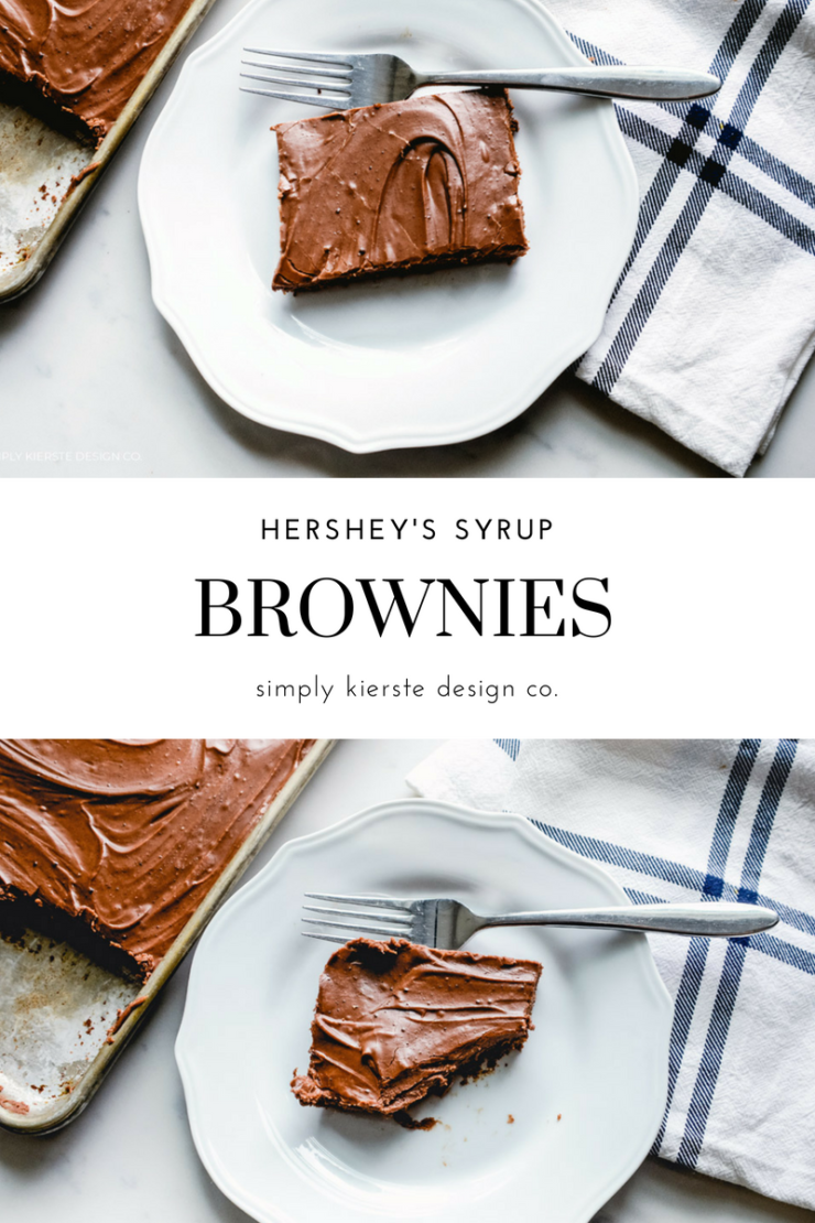 Chocolate Brownies with Hershey's Syrup