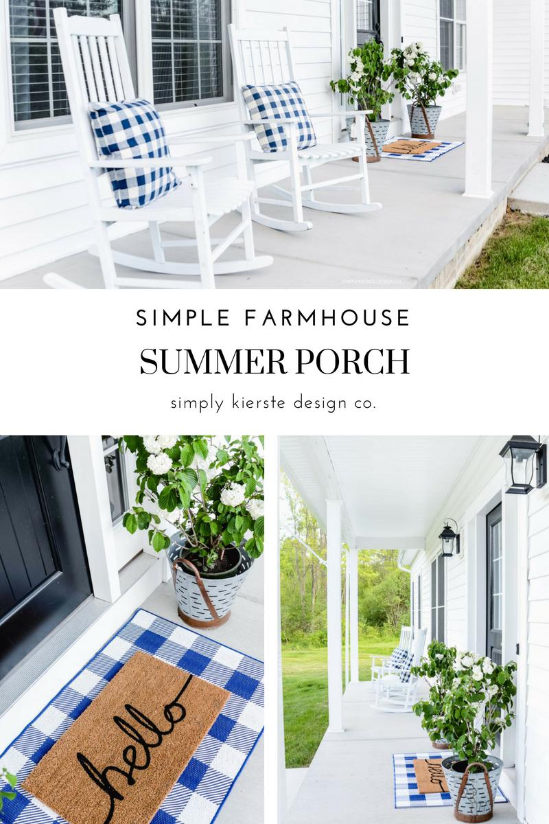 Simple Farmhouse Summer Porch