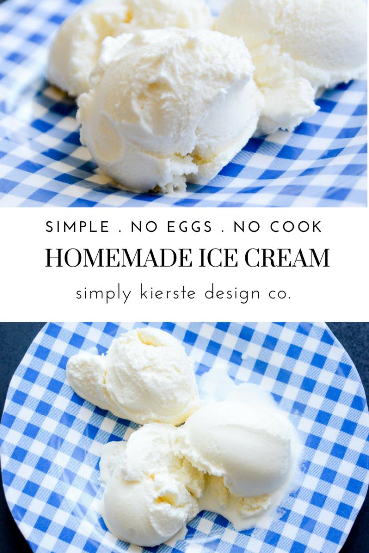 Simple Homemade Vanilla Ice Cream | No Eggs No-Cook Recipe
