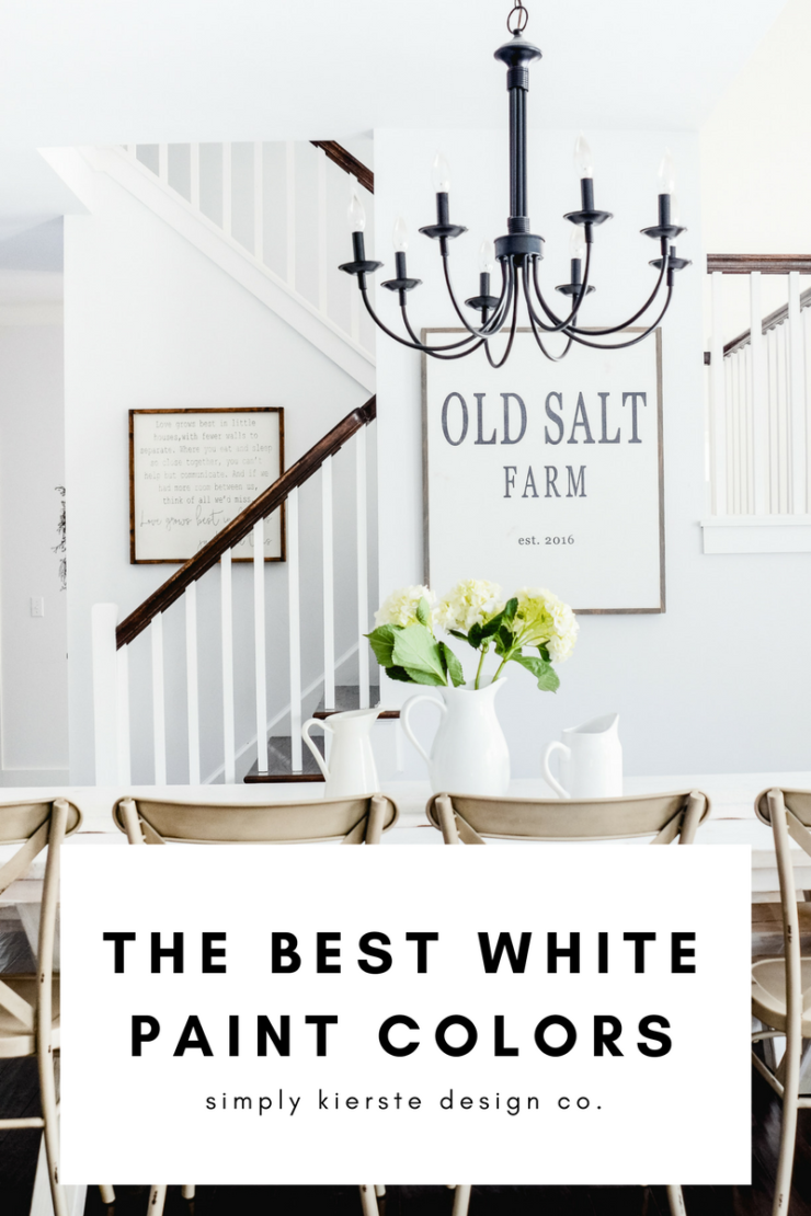 The Best White Paint Colors | Farmhouse White Paint Colors | Decorator White Benjamin Moore