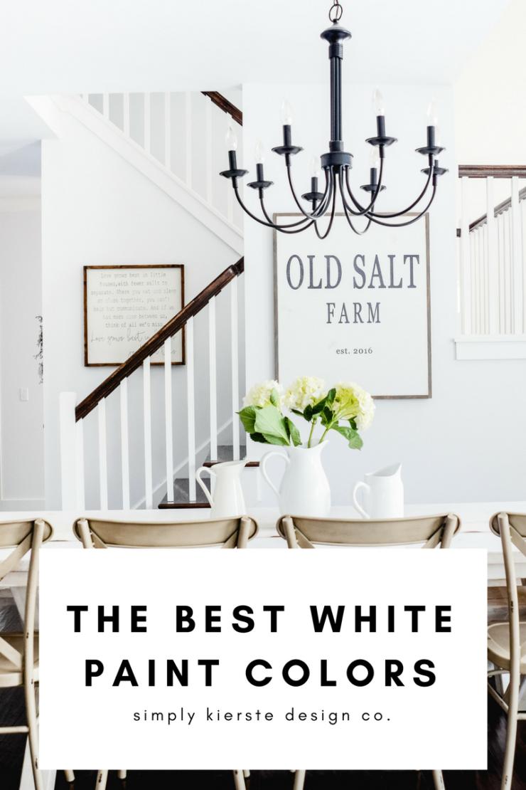 The Best White Paint Colors | Farmhouse White Paint Colors | Decorator White Benjamin Moore